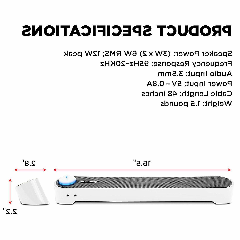 NEW CRISP & CLEAR AUDIO Desktop USB Bar