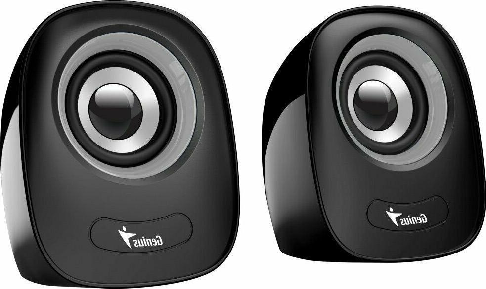 NEW Genius Q160 Stereo Speakers USB Powered 3.5mm Jack 6 wat