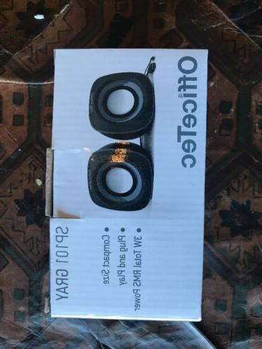 officetec sp101 black usb speaker system