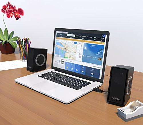 OfficeTec USB Only Computer Speakers Sound
