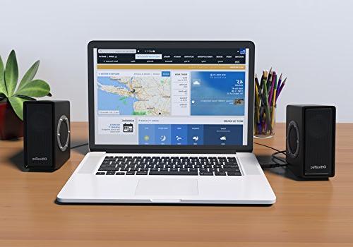 OfficeTec SP212 USB Computer Speakers Sound