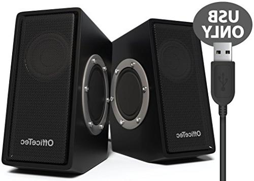 officetec sp212 usb only computer speakers digital sound