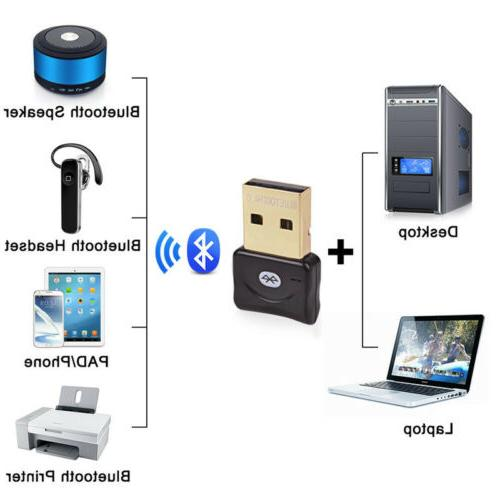 PC/Laptop USB to Bluetooth Wireles Adapter/Dongle for Headphones
