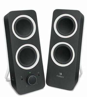PC Logitech Speakers Laptop Desktop Sound Bass Music