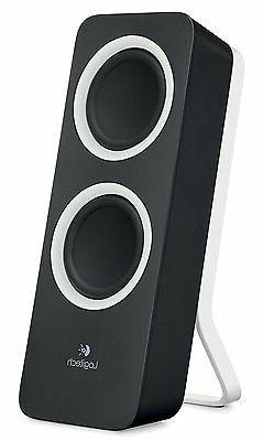 PC Logitech Laptop Desktop Computer Stereo Sound Bass Z200