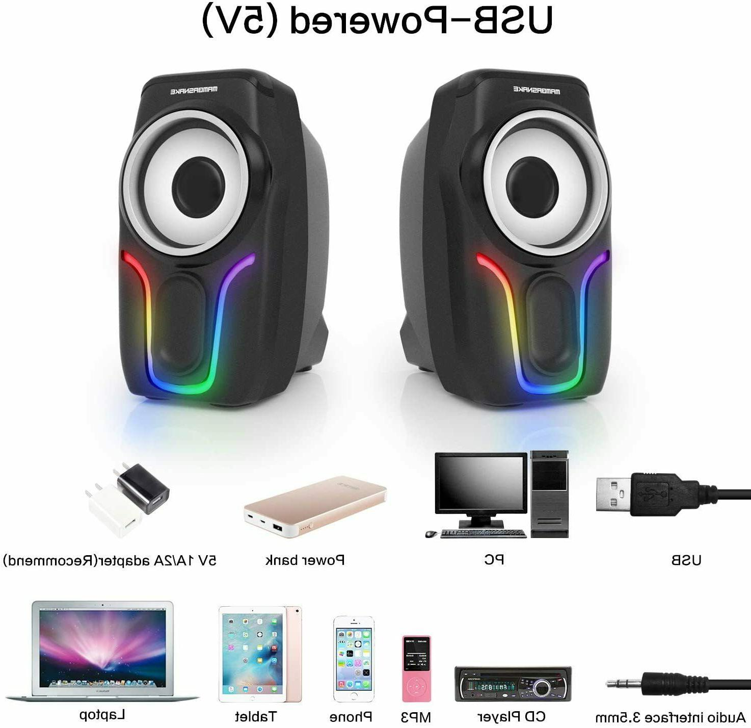 PC Surround Sound LED Deep Bass Computer