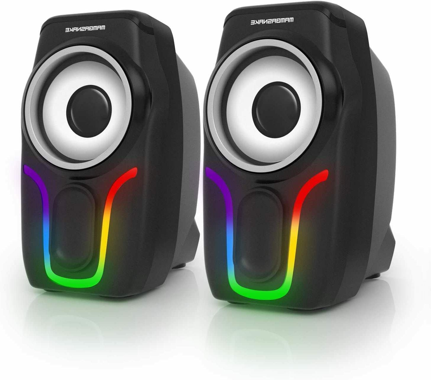 pc surround sound system led speakers gaming