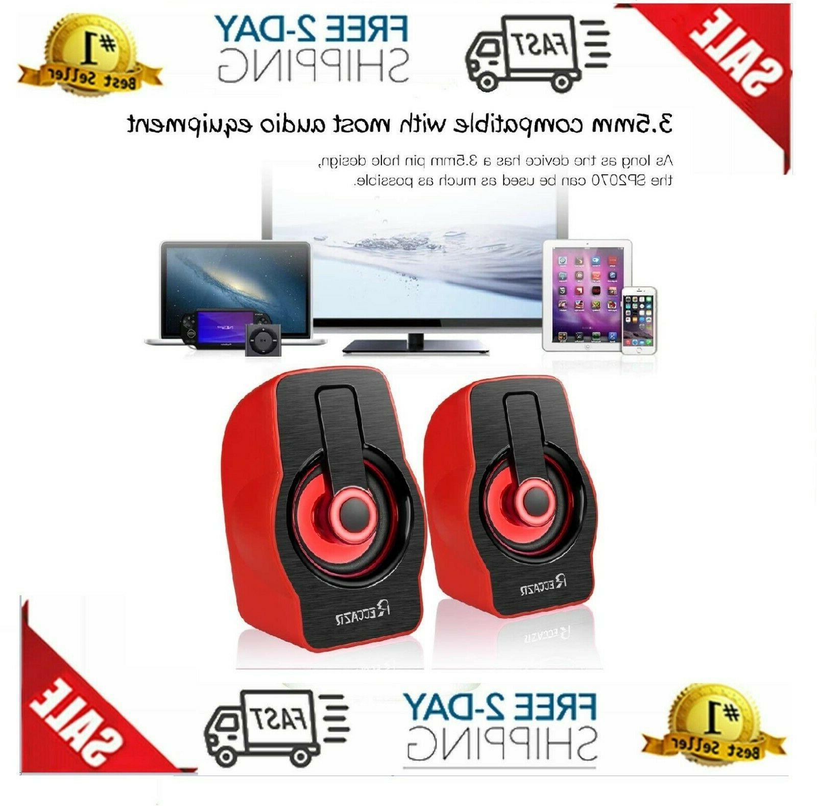 Gaming Speakers PC Surround Sound Bass