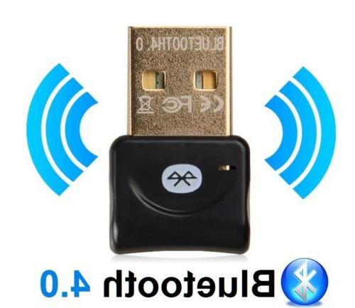 PC USB Bluetooth Wireless V4.0 Adapter for Laptop Speakers US