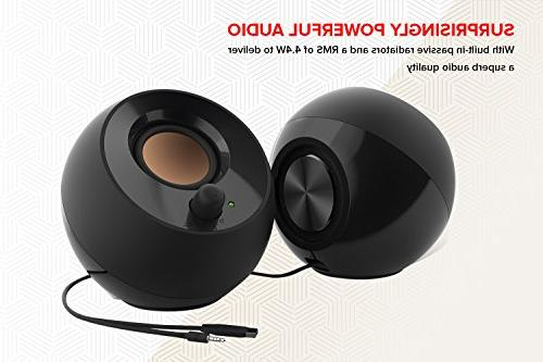 Creative Desktop Speakers with Drivers Passive Radiators for PCs Laptops