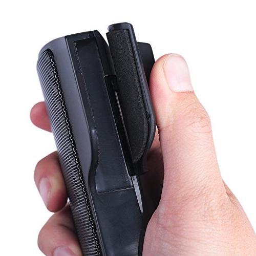SUPVIN Portable Clip-On USB Speaker Soundbar for Notebook Laptop PC Desktop Black