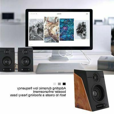 Portable USB Multimedia Desktop Computer Speakers