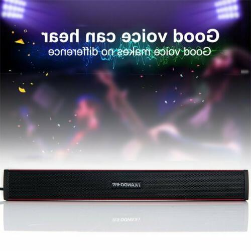 Multimedia USB Powered Soundbar Desktop PC