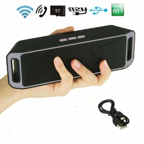 portable wireless bluetooth speaker fm stereo