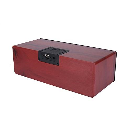 q1 portable wooden wireless subwoofer