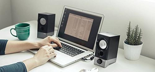 Edifier R19U Compact 2.0 Speakers Powered Supports Windows 10 Mac OS X Sierra