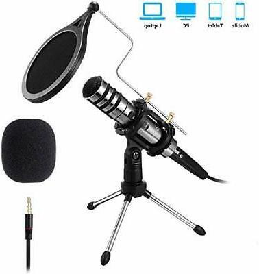 Recording 3.5mm Condenser Plug Play,