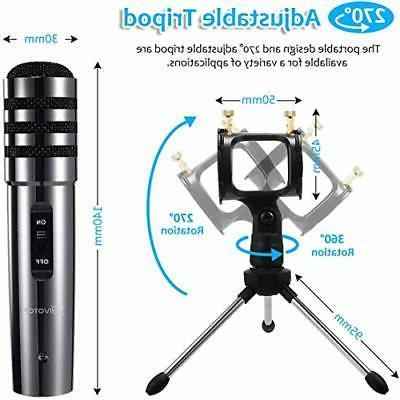 Recording Condenser Microphone Plug Play, PC