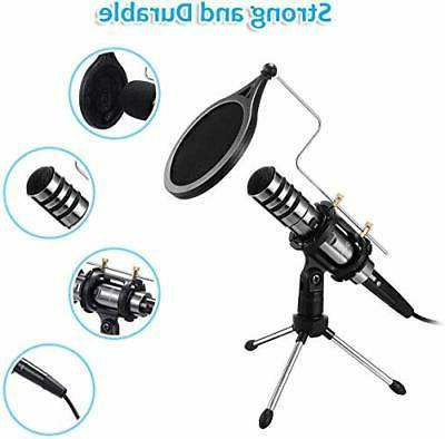 recording microphone 3 5mm condenser microphone plug