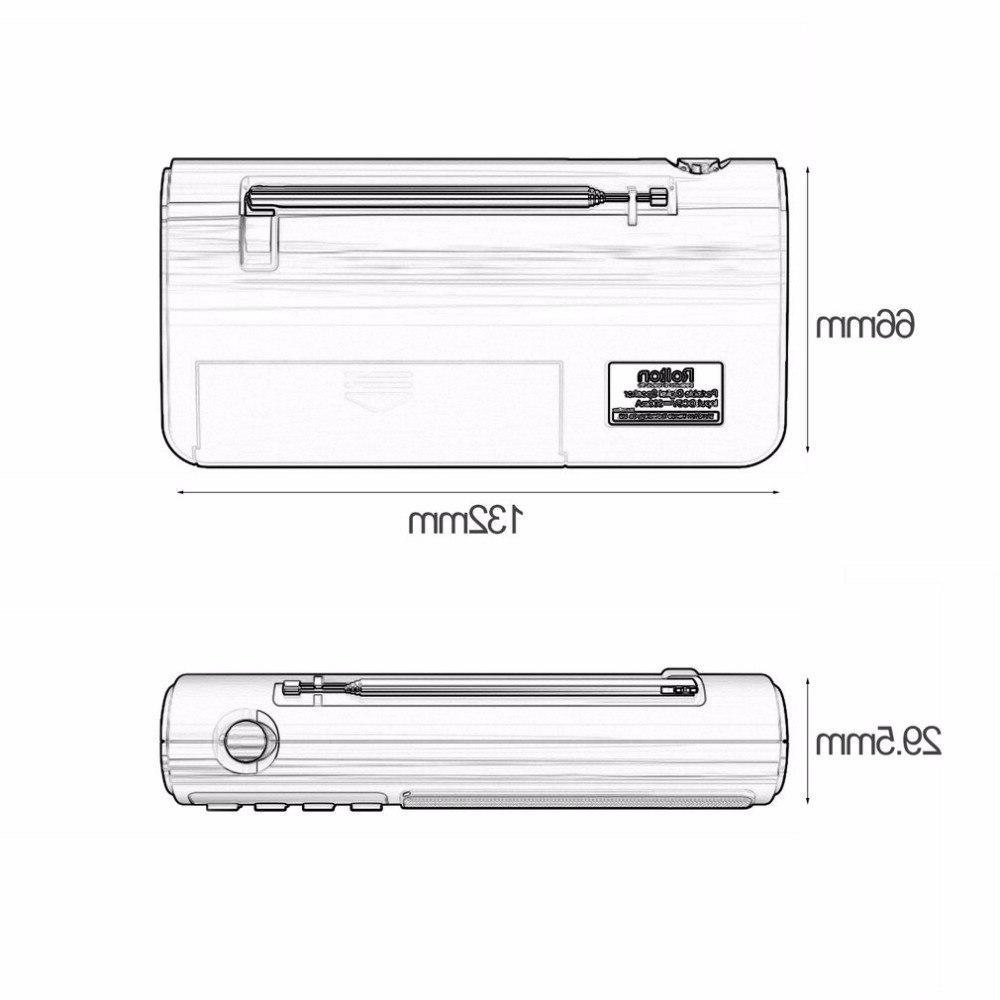 Rolton Portable FM/MW/<font><b>SW</b></font> <font><b>Speaker</b></font> Mp3 Player Card for