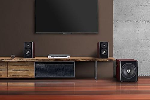 Edifier Bookshelf Speaker and Subwoofer Speaker System v4.1 Wireless Sound Rooms, and Dens