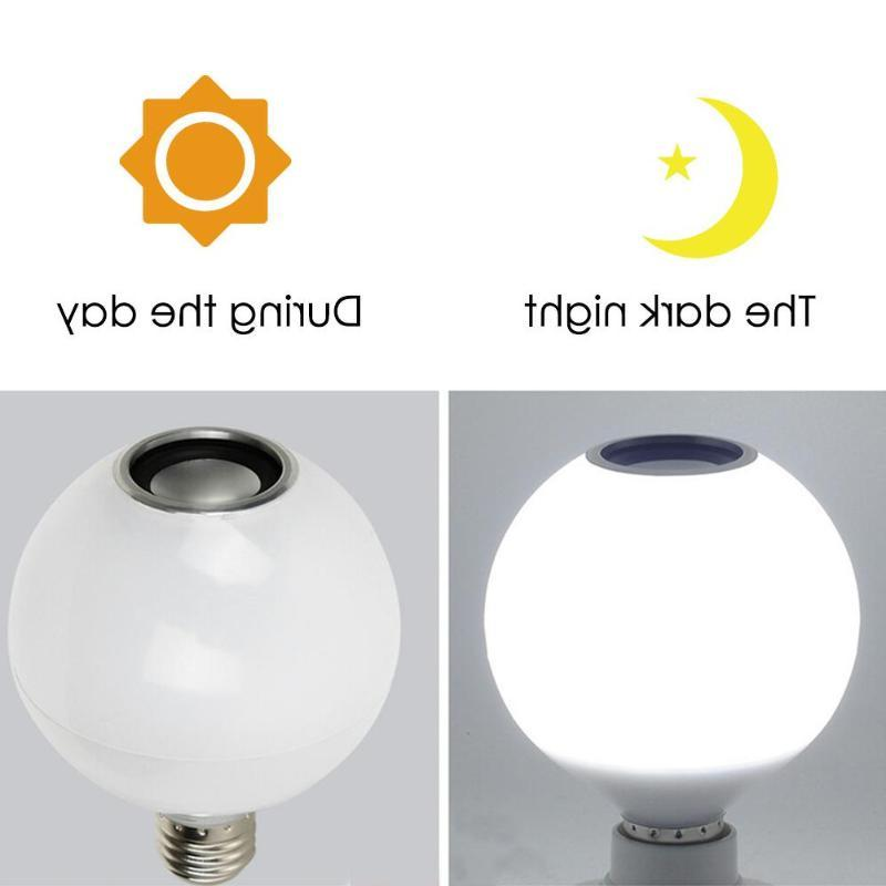 Smart Bluetooth <font><b>Speaker</b></font> LED Bulb Light Dimmable with Remote