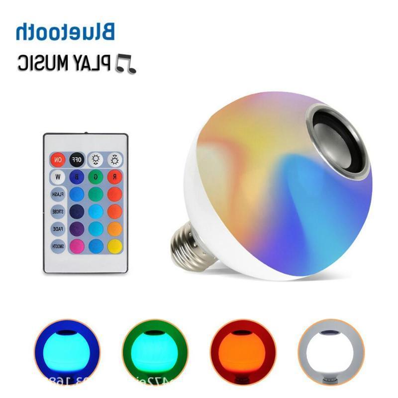 Smart E27 RGB Bluetooth <font><b>Speaker</b></font> LED Bulb