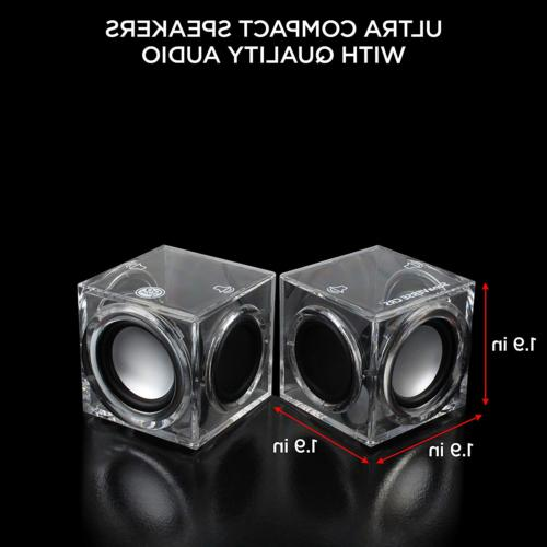 GOgroove Cube Powered PC Speakers Stereo