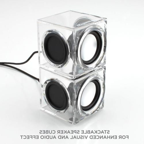 GOgroove CRS Clear Cube USB PC Stereo