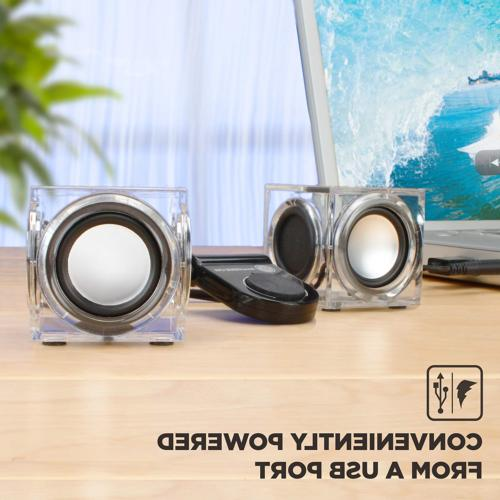 GOgroove CRS Cube PC Speakers with Stereo