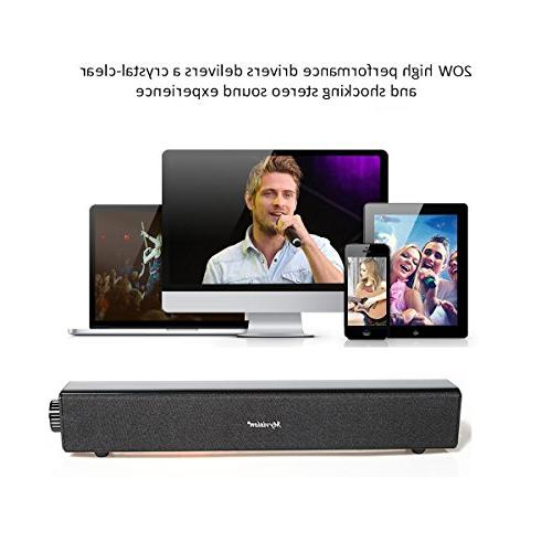 Sound Bar,20W Computer Speaker,Home Soundbar for PC Cellphone Tablets Desktop