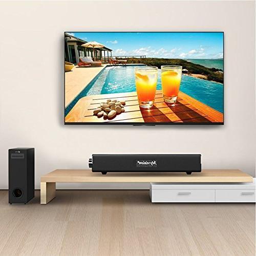 Sound Bar,20W Wireless Computer Speaker,Home Soundbar for Cellphone Tablets Desktop