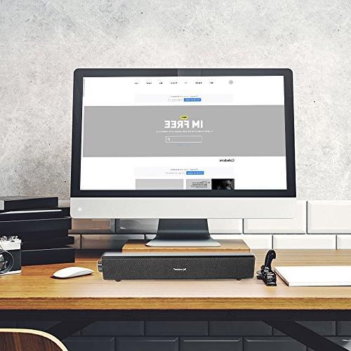 Sound Bar,20W Wireless Bluetooth Computer Soundbar for PC Cellphone Tablets Desktop