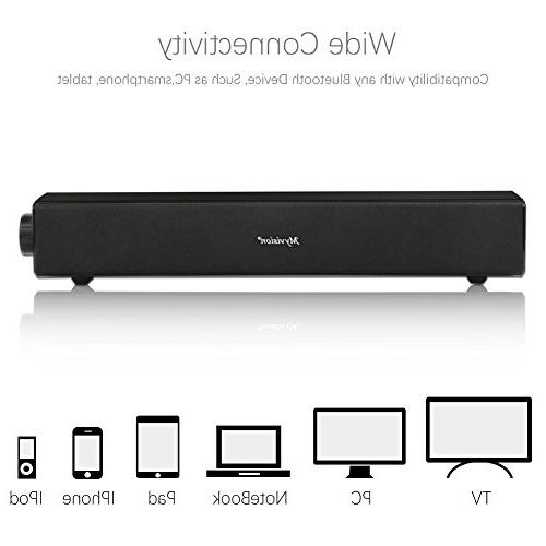 Sound Bar, Wired Audio Bluetooth Home Theater Speaker, Surround TV, Cellphone, Projector and Wireless Devices