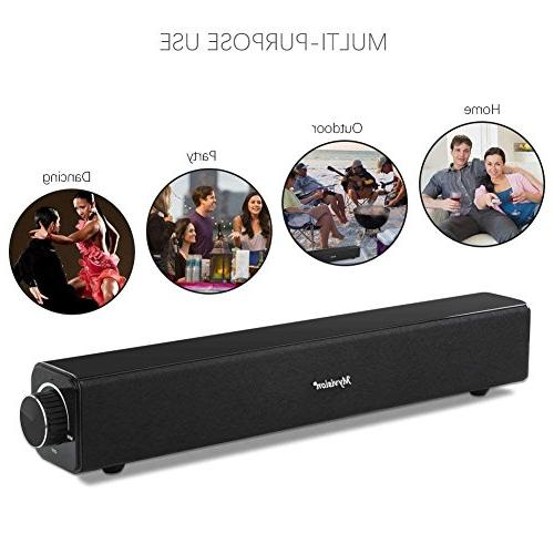 Sound Wired Audio Stereo, Bluetooth Theater Speaker, Surround Sound TV, Projector and Wireless