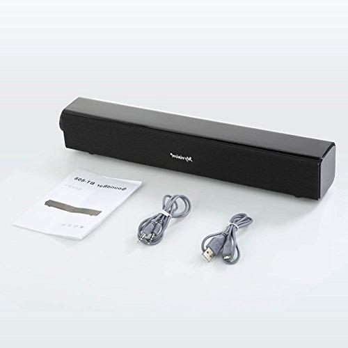 Sound Soundbar Wired and Wireless Audio Stereo, Theater TV Speaker, Surround for TV, PC, Cellphone, Tablets Projector Wireless Devices