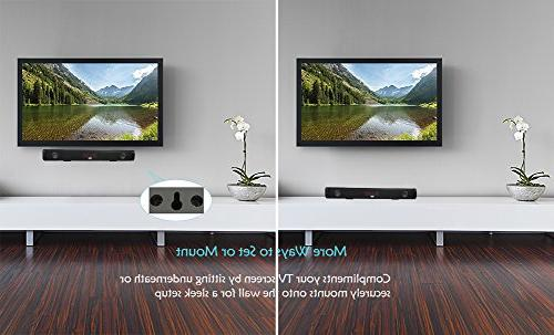 Autocht Sound inch Channel Stereo and Bluetooth TV/PC/Phones/Tablet/USB with Control B07H3PLF3X