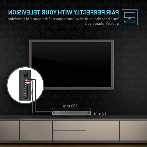 Sound Wired and Surround Sound Bar for TV/PC/Tablet/Smartphone(Included Cable, Dual Remote Control)