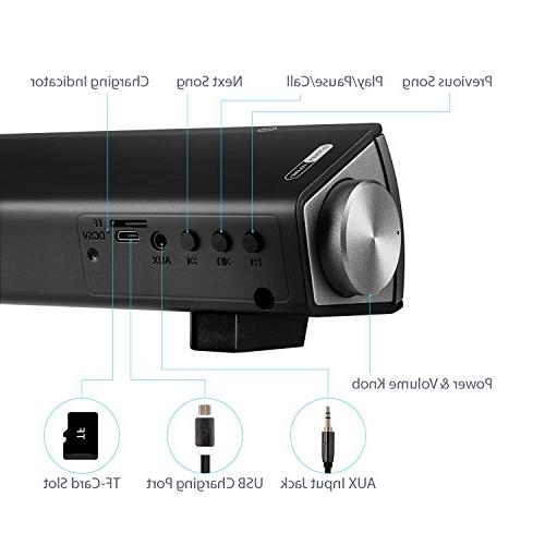 Sound Surround Soundbar Wired and Bluetooth Sound Bar for Audio Cable, Dual Control)