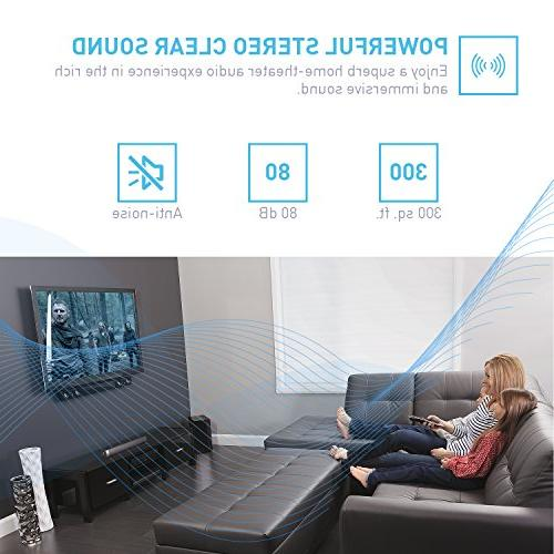 Sound Soundbar and Bluetooth for TV/PC/Tablet/Smartphone(Included Audio Cable, Dual Connection Control)