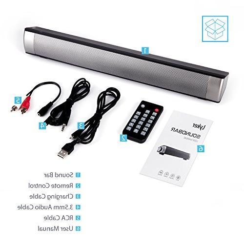 Sound Bar -TV Soundbar Bluetooth Bar for Cable, Dual Connection Methods, Remote Control)