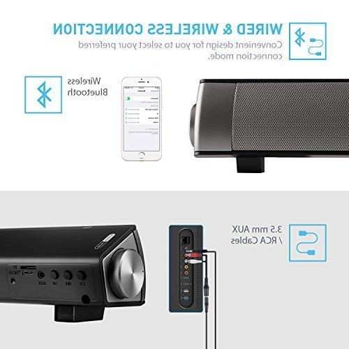 Sound -TV Surround Soundbar and Bluetooth Sound Bar for Dual Control)