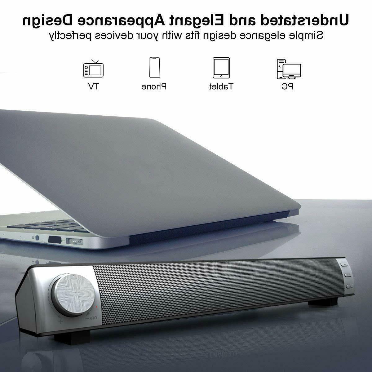 Soundbar TV Monitor Laptop with Jack Aux