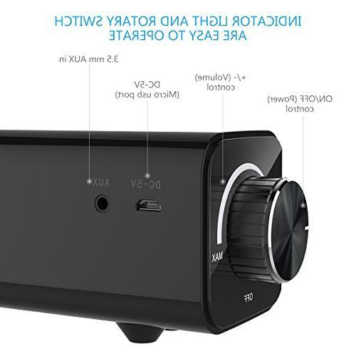 Soundbar, Foxnovo Bluetooth 20W Home Bluetooth Audio TV, Tablets or Devices
