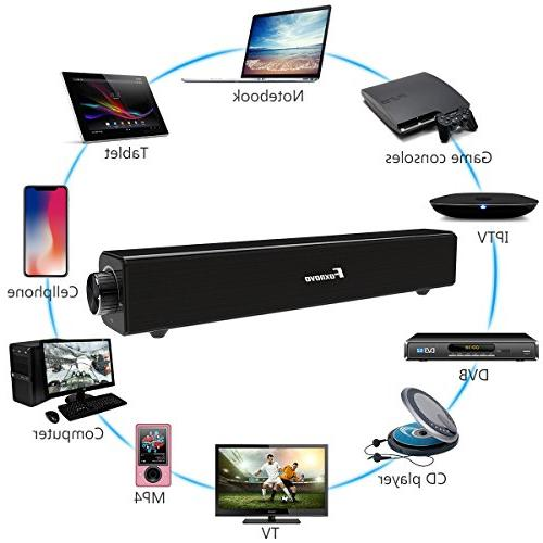 20W and Wireless Home Theater Bluetooth Speaker Audio SoundBar TV, Cell Tablets Devices