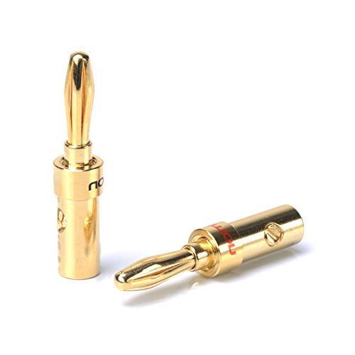 speaker banana plugs socket gold