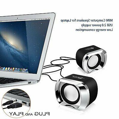Mini Speakers PC Desktop Stereo Sound Wired
