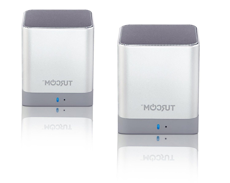 Turcom iPhone PC Desktop Dual Speakers Wireless Speakers