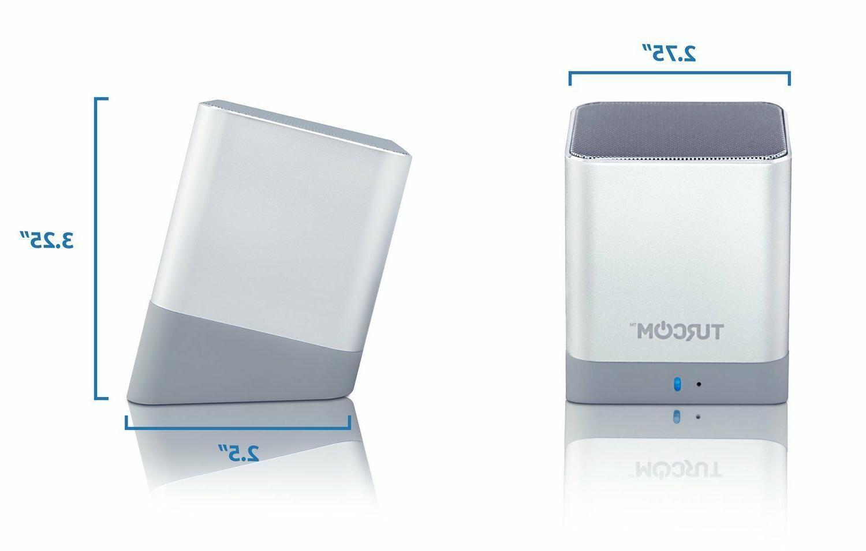 Turcom iPhone Desktop Dual Mini Bluetooth Speakers Speakers
