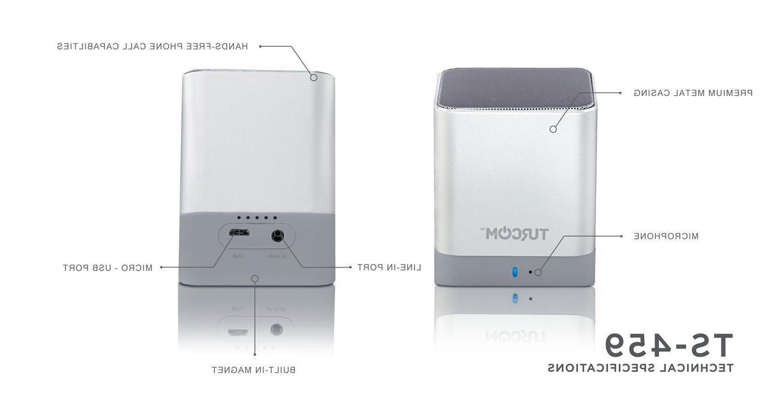 Turcom iPhone MP3 Desktop Speakers Wireless